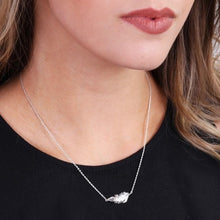 Load image into Gallery viewer, Silver Feather Charm Necklace