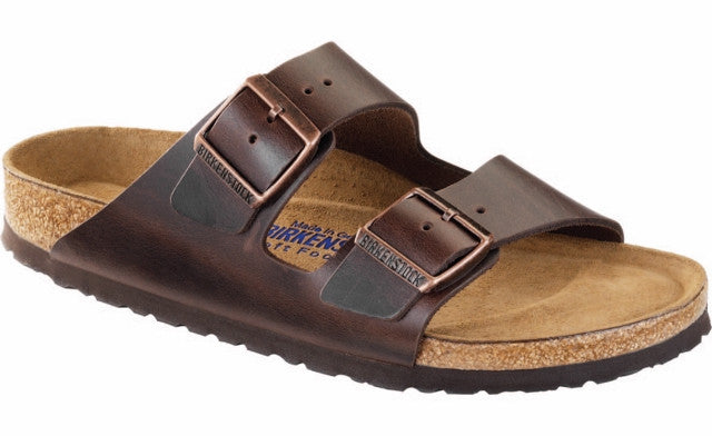 BIRKENSTOCK ARIZONA SF BROWN AMALFI LEATHER - COSMOTOG