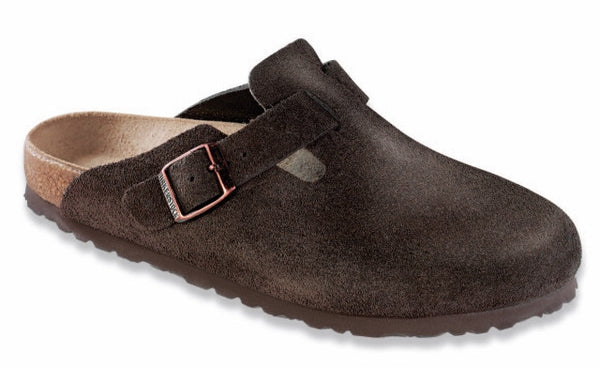 BIRKENSTOCK BOSTON SOFT FOOTBED MOCHA SUEDE - COSMOTOG
