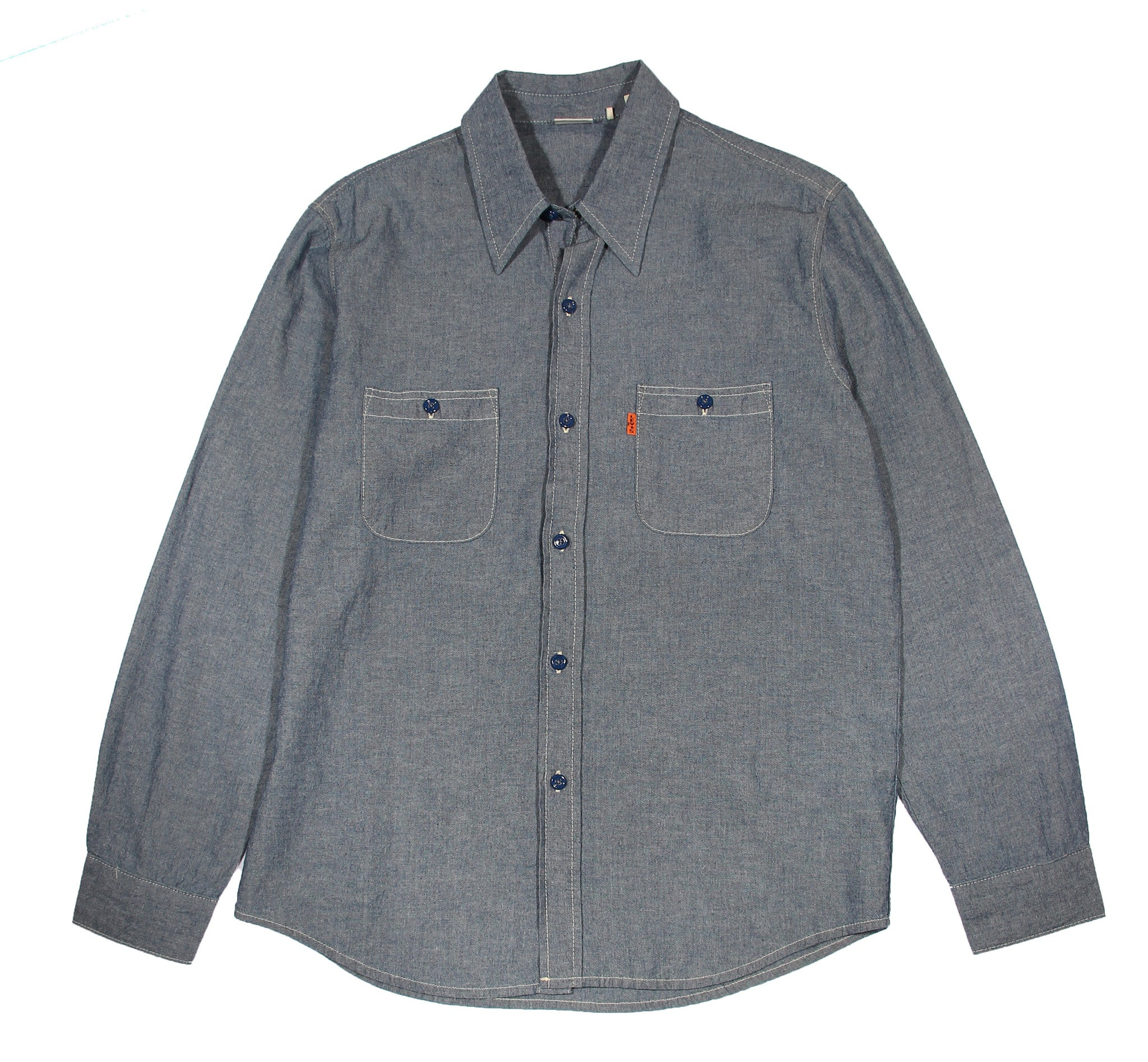 LEVIS'S VINTAGE 1960s CHAMBRAY SHIRT - COSMOTOG