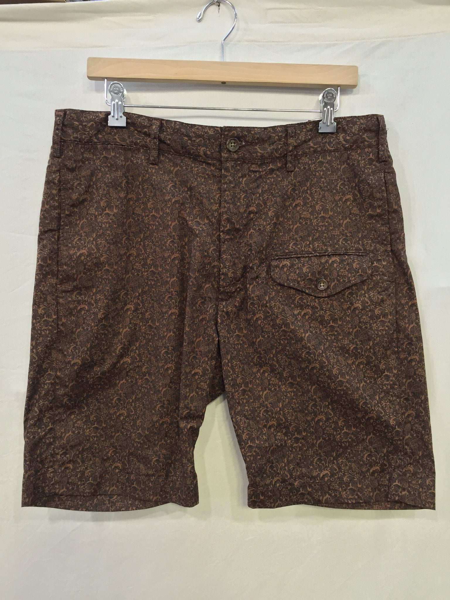 GHURKA SHORT - BROWN PAISLEY PRINT