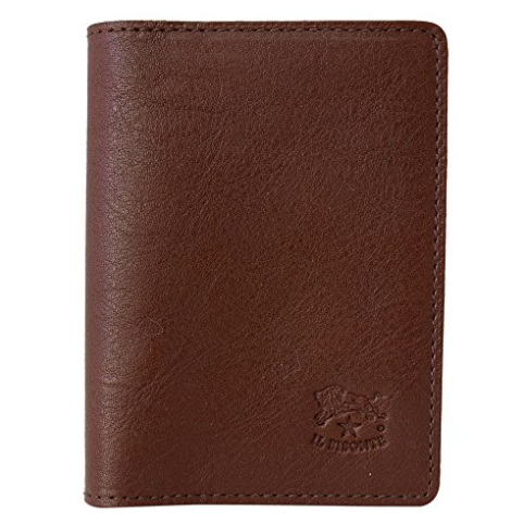 ID & CARD WALLET IN COWHIDE LEATHER C0469/M-869 (COLOR MARRONE)
