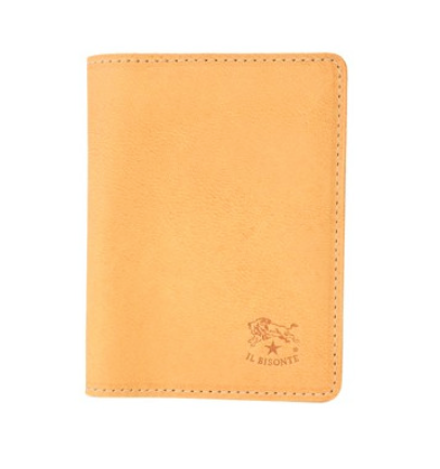ID & CARD WALLET IN COWHIDE LEATHER C0469/M-120 (COLOR NATURAL)