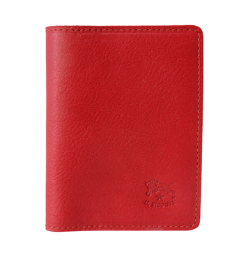ID & CARD WALLET IN COWHIDE LEATHER C0469/M-245 (COLOR ROSSO)