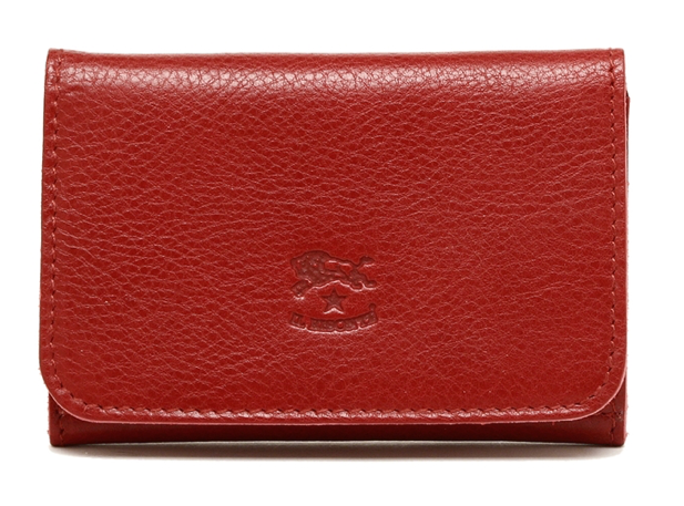 CARD CASE IN COWHIDE LEATHER C0470-245 (COLOR ROSSO)