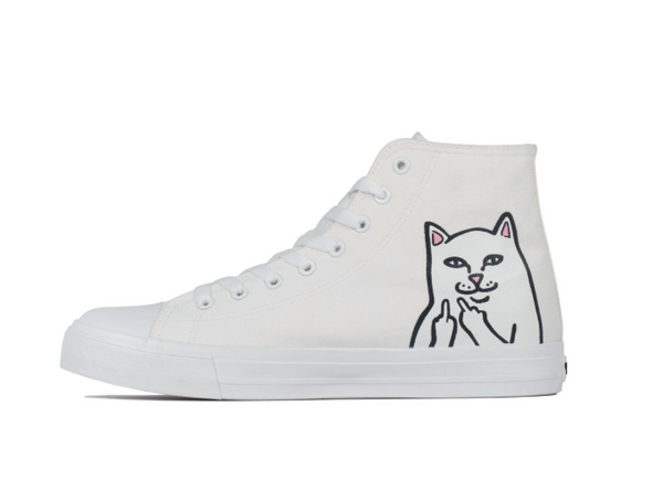 LORD NERMAL HIGH-TOP SHOES - WHITE