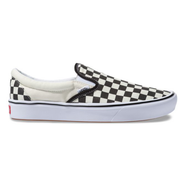 COMFYCUSH CHECKERBOARD SLIP-ON - BLACK/OFF WHITE