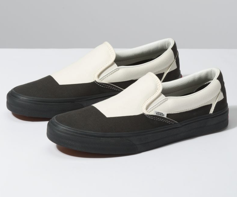 OVERPRINT SLIP-ON - BLACK/CLASSIC WHITE