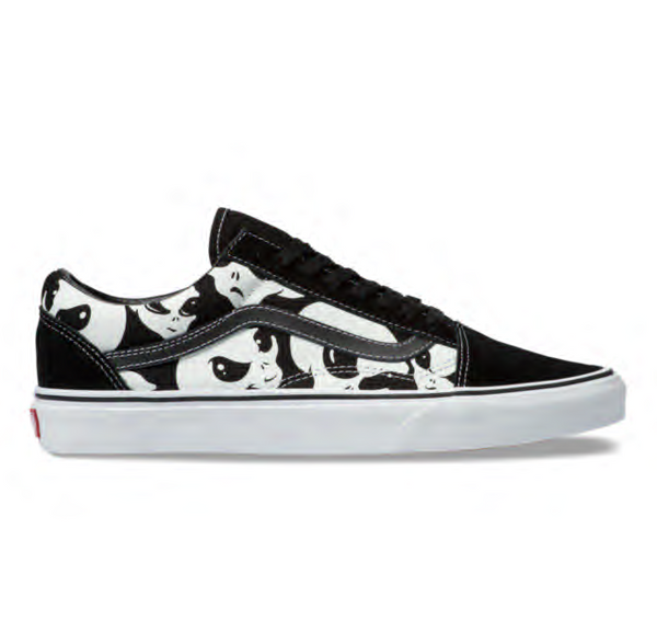ALIEN GHOSTS OLD SKOOL - BLACK/TRUE WHITE