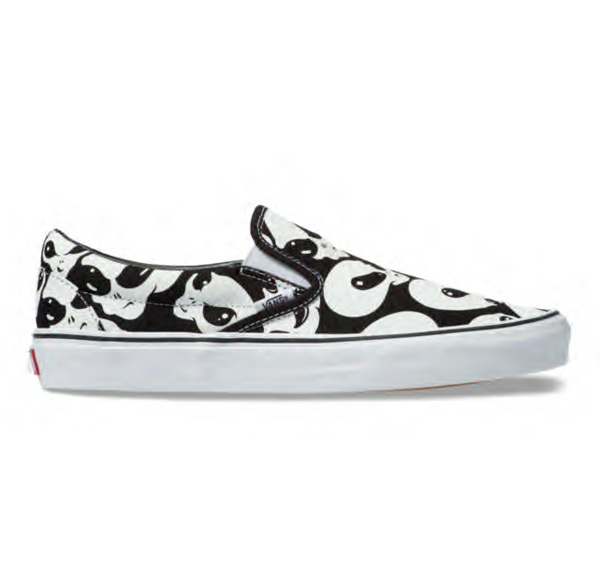 ALIEN GHOSTS SLIP-ON - BLACK/TRUE WHITE