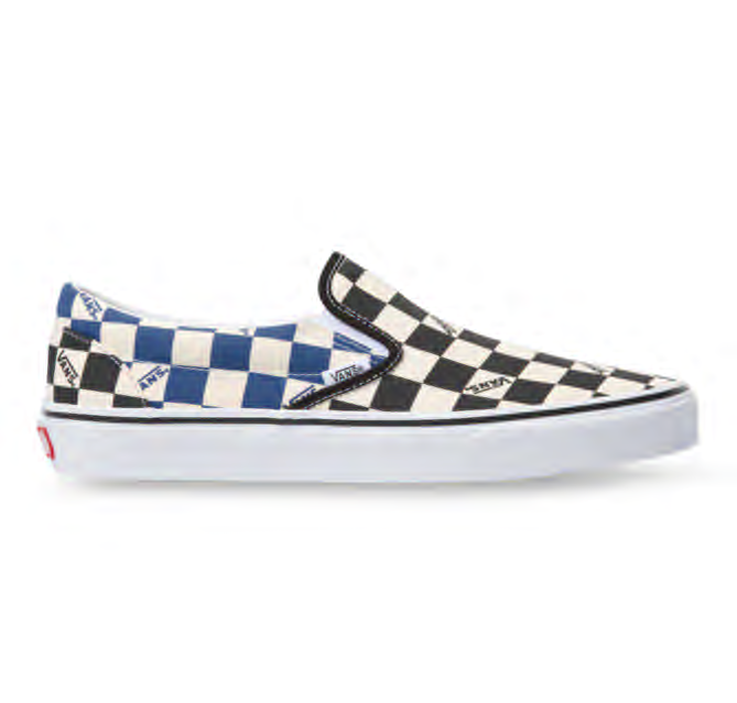 BIG CHECK SLIP-ON - BLACK/NAVY