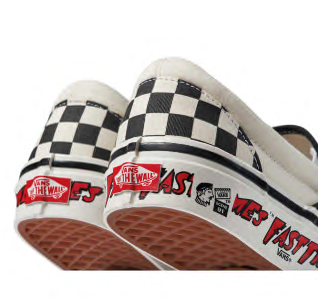 "SLIP-ON 98 DX ANAHEIM FACTORY × ""FAST TIMES AT RIDGEMONT HIGH""  SLIP-ON 98 DX - OG FAST TIMES"