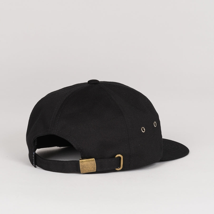 LORD NERMAL 6 PANEL POCKET HAT - BLACK