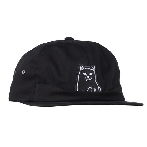 LORD JERMAL 6 PANEL POCKET HAT - BLACK