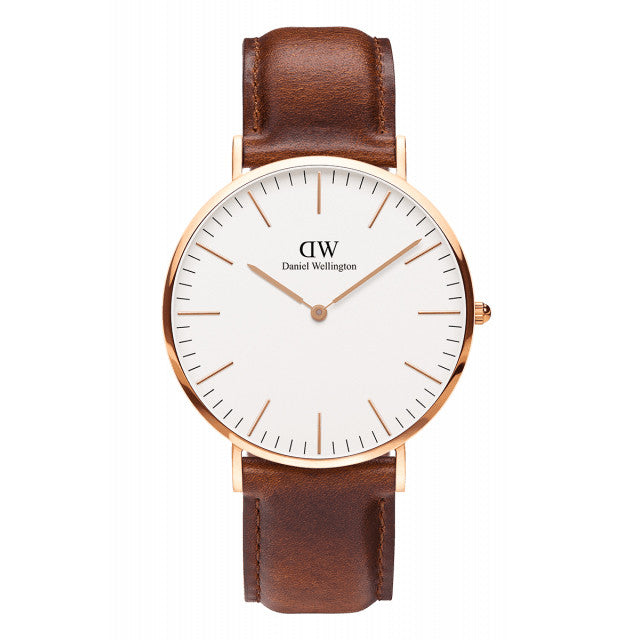 ST MAWES MAN WATCH ROSE GOLD 40mm - COSMOTOG