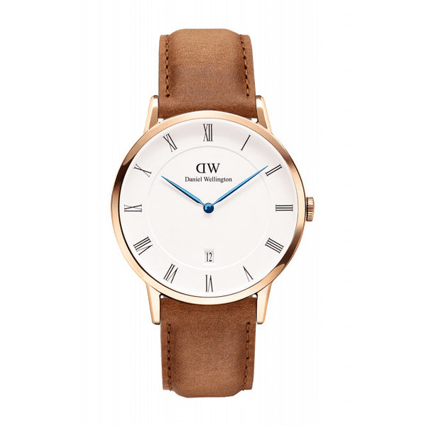 DURHAM UNISEX WATCH DAPPER ROSE GOLD 38mm - COSMOTOG