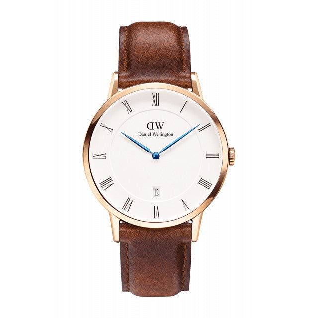 ST MAWES UNISEX WATCH DAPPER ROSE GOLD 38mm - COSMOTOG