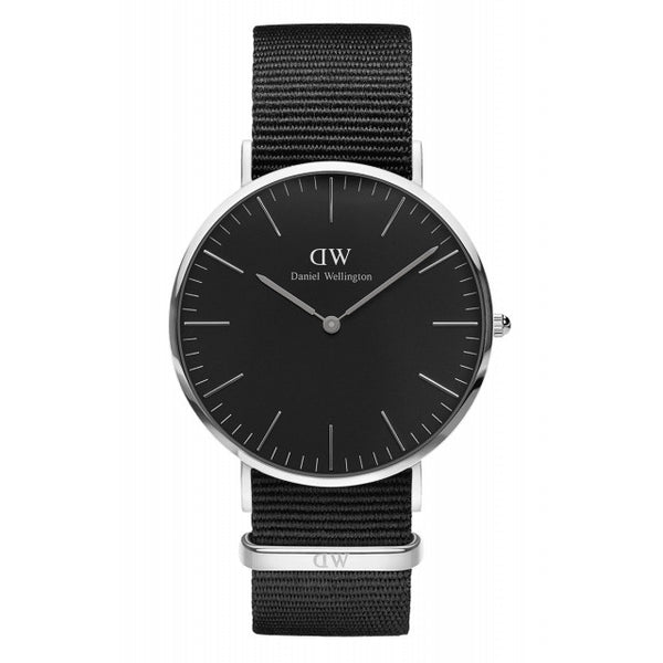 BLACK CORNWALL MAN WATCH SILVER 40mm - COSMOTOG