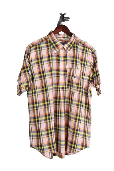 POPOVER BUTTON DOWN CL MADRAS PLAID SHIRT - PINK/YELLOW