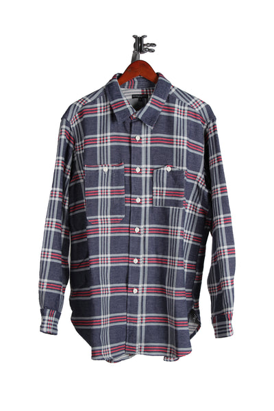 WORK SHIRT - NAVY/TEAL/RED BIG PLAID