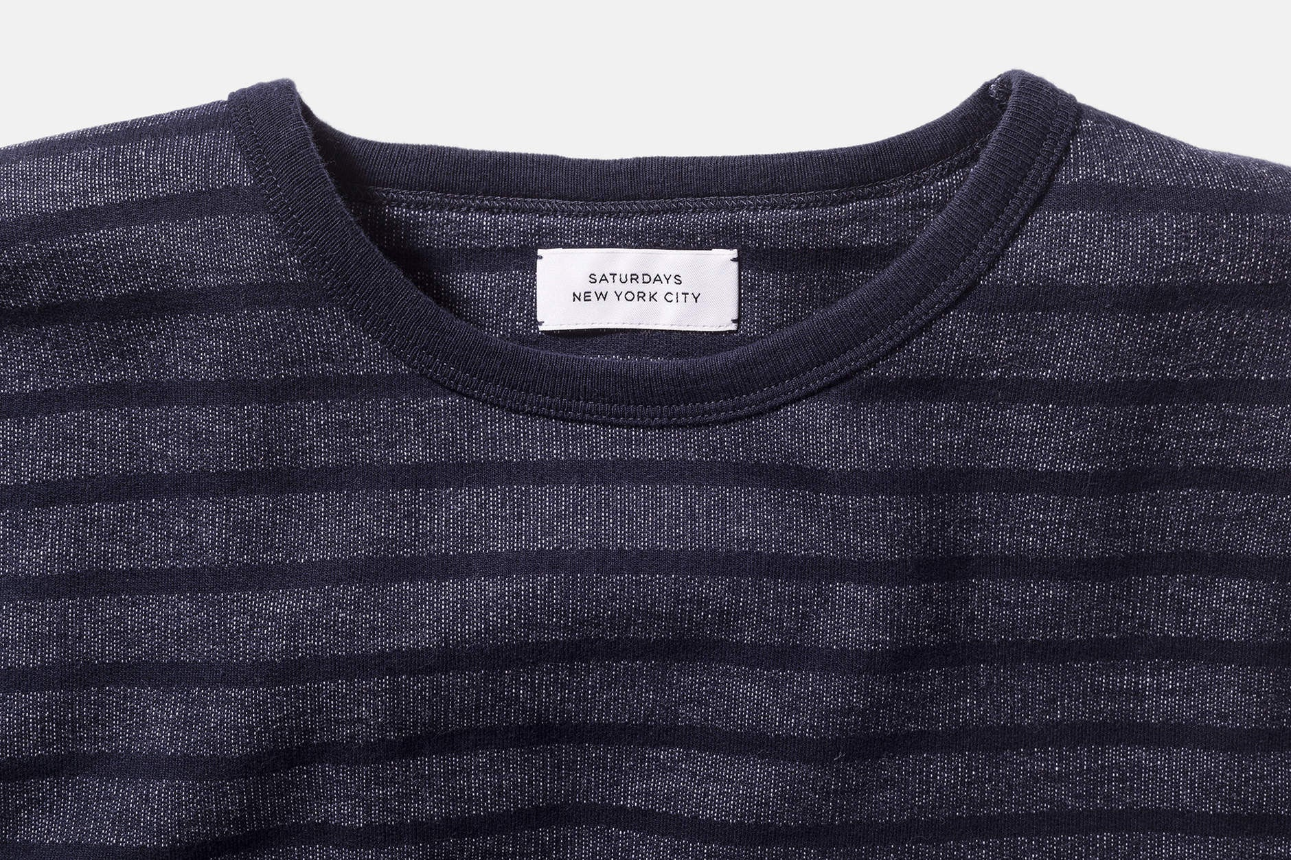 James Stripe Long Sleeve T‑Shirt Midnight - COSMOTOG