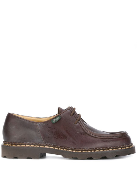 MICHAEL LISSE LACE-UP SHOES - CAFE (BROWN)
