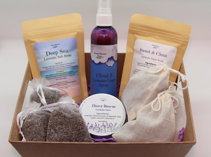 Gift Basket with assortment of lavender product