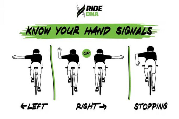 Bike riding hand signals guide