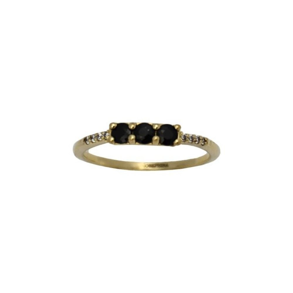 Ring Vintage Black Onyx Combo Gold