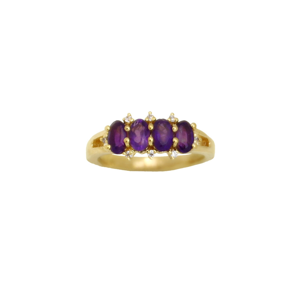 Ring Vintage Amethyst Gold