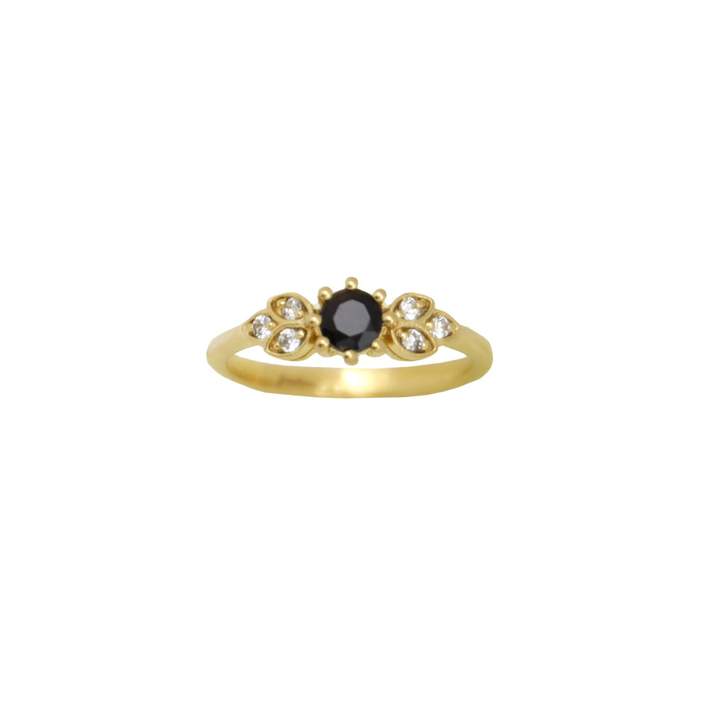 Ring Vintage Black Onyx Gold