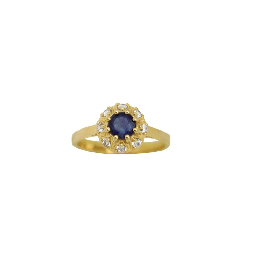 Ring Vintage Sapphire Gold