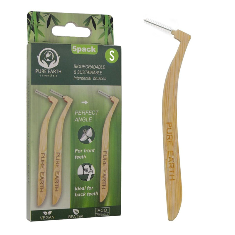 L- Shaped Bamboo Interdental Brush