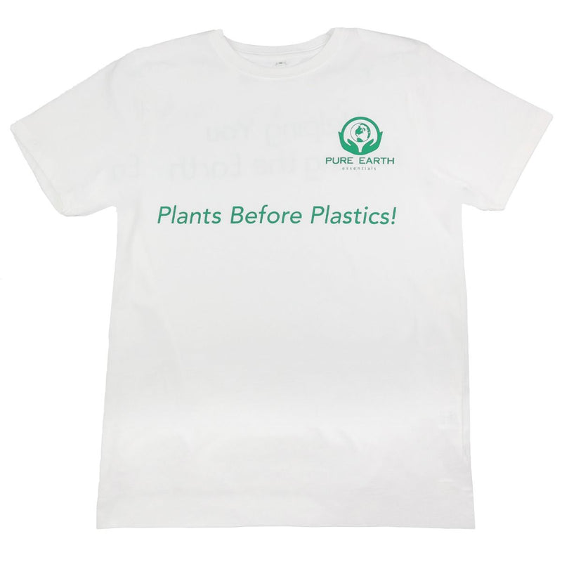 100% Pure Organic Cotton T-Shirt - Plants Before Plastics