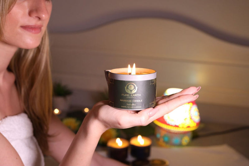 Tranquillity Massage Candle - Lavender, Geranium and Sandalwood