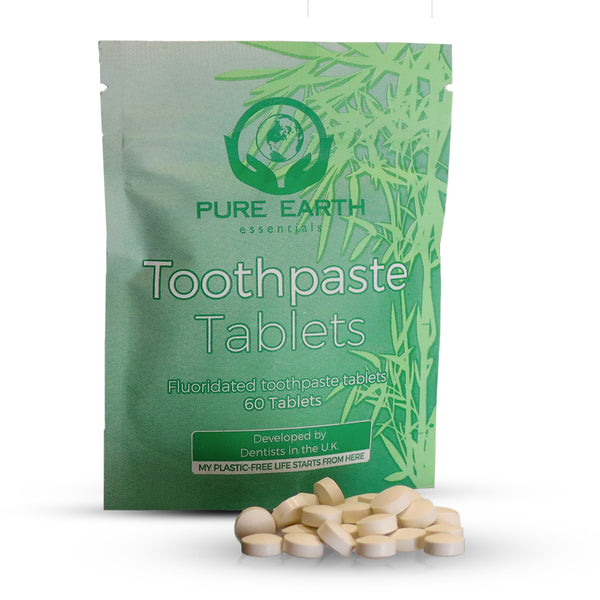 Eco friendly mint flavoured toothpaste tablets - 60 per pack