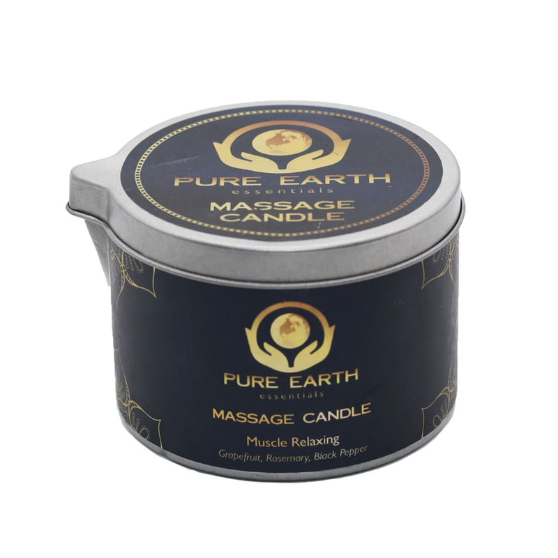 Muscle Relaxing Massage Candles - Grapefruit, Rosemary, Black Pepper