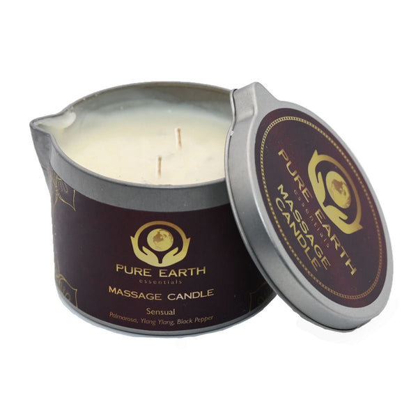 Sensual Massage Candle - Palmarosa, Ylang Ylang, Black Pepper