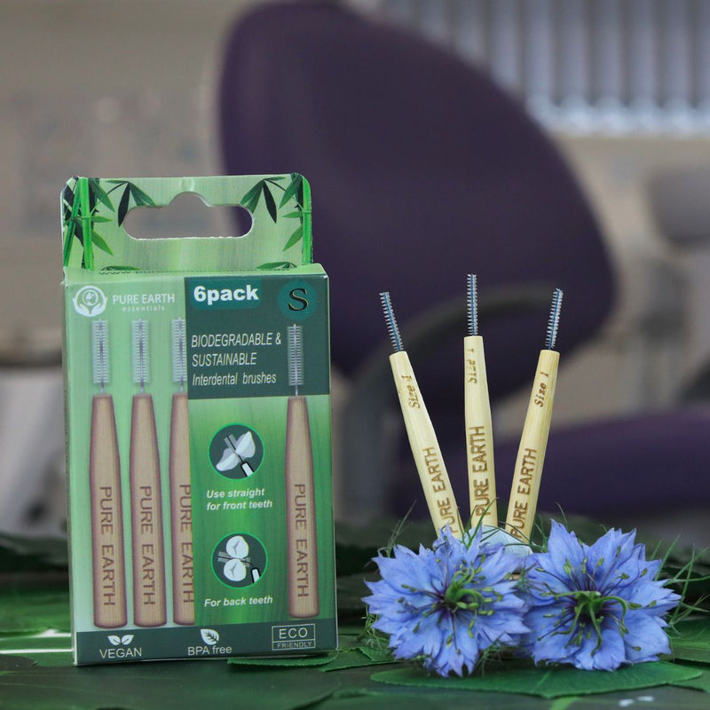 Natural Bamboo Interdental Brushes - 5 sizes available - Starts at £1.29 per item