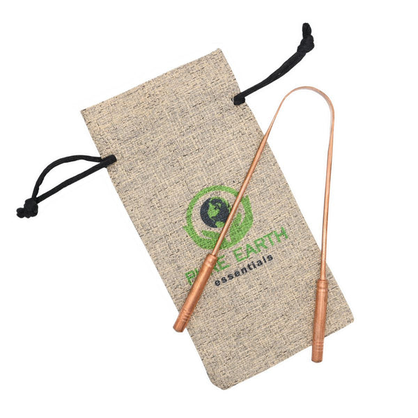 Copper Tongue Cleaner with Carry Bag - Single Pack