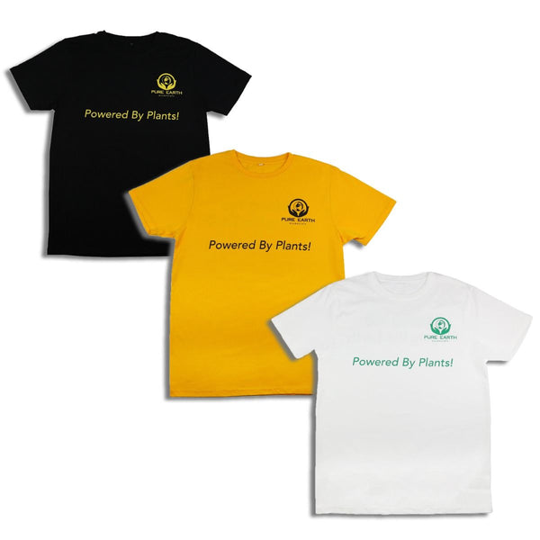 100% Pure Organic Cotton T-Shirt - Powered by Plants