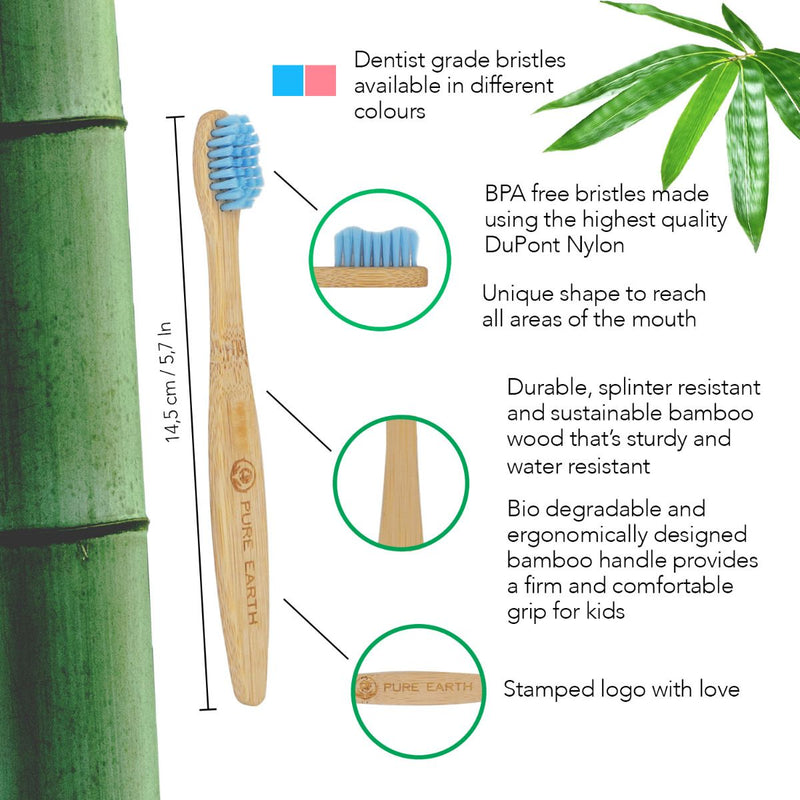 Kids Organic Bamboo Toothbrush - Single Pack - Starts at £2.08 per item