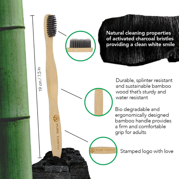 Bamboo Charcoal Toothbrush - Starts from £0.85 per item