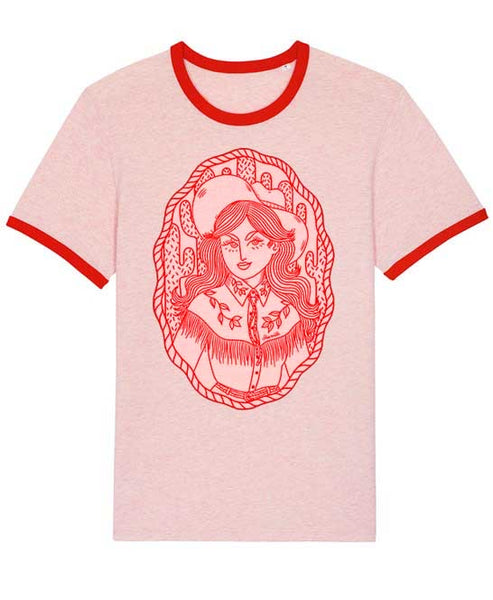 Cowgirl ringer t-shirt