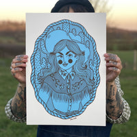 A3 Cowgirl screen print