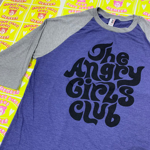 The Angry Girls Club 70's Raglan t-shirt