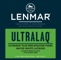 UltraMax® Plus Water White Precatalyzed Lacquer - Dull Rubbed 1D.352