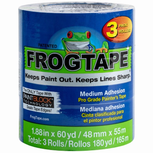 FrogTape®️ Pro Grade Painter's Tape- Blue, 3pk, 1.88in x 60yd