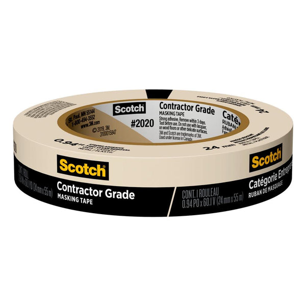 3M Scotch General Purpose Masking Tape 1""
