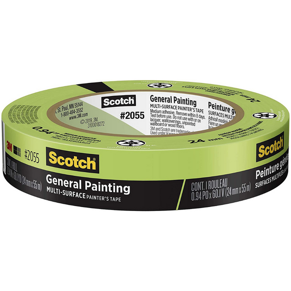 3M Scotch Masking Tape 1""